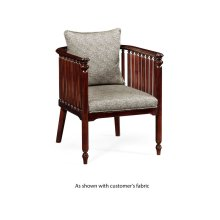 Slat Sided Occasional Chair, Upholstered in COM