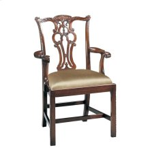 MASSACHUSETTS POLISHED MAHOGANY ARM CHAIR
