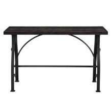 Industrial Metal Brace Sofa Table