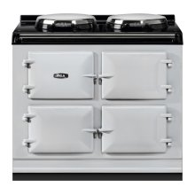 "AGA Total Control 39"" Electric Pearl Ashes with Stainless Steel trim"