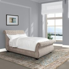 Claire Khaki Upholstered Bed Collection