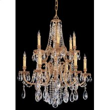 Novella 12 Light Clear Swarovski Strass Crystal Chandelier