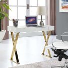 Sector Console Table in White Gold Product Image