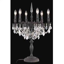9206 Rosalia Collection Table Lamp Dark Bronze Finish