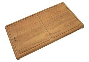 Iroko-wood sliding chopping board 8643 000 Product Image