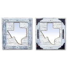 Large White Texas Mirror Da