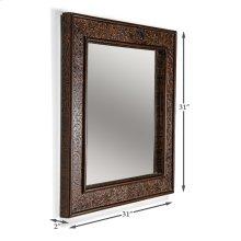Leather Embossed Vines Mirror