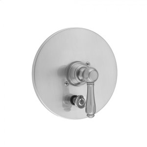 Antique Brass - Round Plate With Smooth Lever Trim For Pressure Balance Cycling Valve With Built-in Diverter (J-DIV-CSV) Product Image