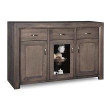 Contempo Sideboard w/2 Wood Doors &1/Center Glass Door &3/Dwrs & 2/Wood & Glass Adjust.