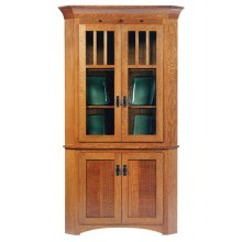 "30"" New Classic Mission Corner Hutch"