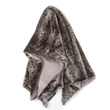 PONCA THROW- GRAY  Faux Fur