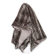 PONCA THROW- GRAY  Faux Fur