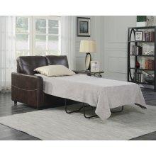 Emerald Home Slumber Twin Sleeper W/gel Foam Mattress Coffee U3215-33-15