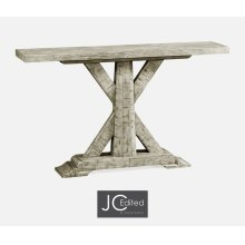 Rustic Grey Rectangular Console