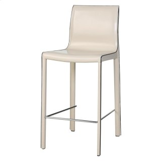 Gervin Recycled Leather Counter Stool, Vanilla
