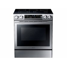 5.8 cu. ft. Slide-in Electric Range with Dual Convection in Stainless Steel