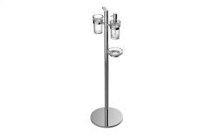 Free Standing Soap/Lotion Dispenser, Soap Dish Holder & Tumbler Product Image