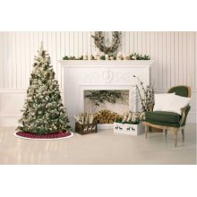 """Home for the Holiday Qy412 Red 4'4"""" X Round Tree Skirt"""