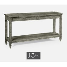 Console Table with Drawers in Antique Dark Grey
