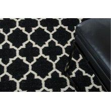 Linie Design Adelyn Black Wool Rug