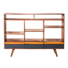 Bliss Open Bookshelf With Drawers