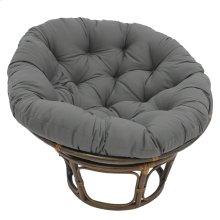 Bali 42-inch Indoor Fabric Rattan Papasan Chair - Walnut/Steel Grey
