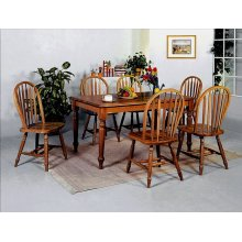"Dark Oak Arrow Windsor Chair 38""h"