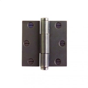 """Butt Hinge - 3 1/2"""" x 3 1/2"""" Silicon Bronze Brushed Product Image"""