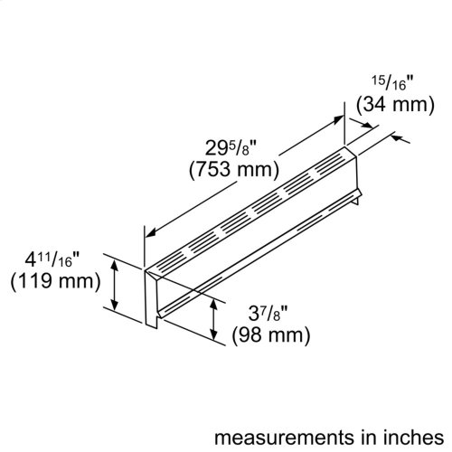 """4"""" Low Back Accessory for Gas Slide-in Range"""