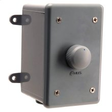 Weatherproof Stereo Volume Control w/Select. Impedance; Enclosure and Face - Gray WVC100E