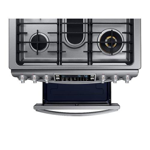 5.8 cu. ft. Slide-in Dual Fuel Range with Flex Duo & Dual Door in Stainless Steel