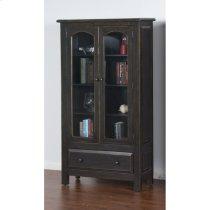Black 2 Door Display Cabinet Product Image