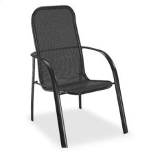 High Back Dining Chair (Stackable) - Metal
