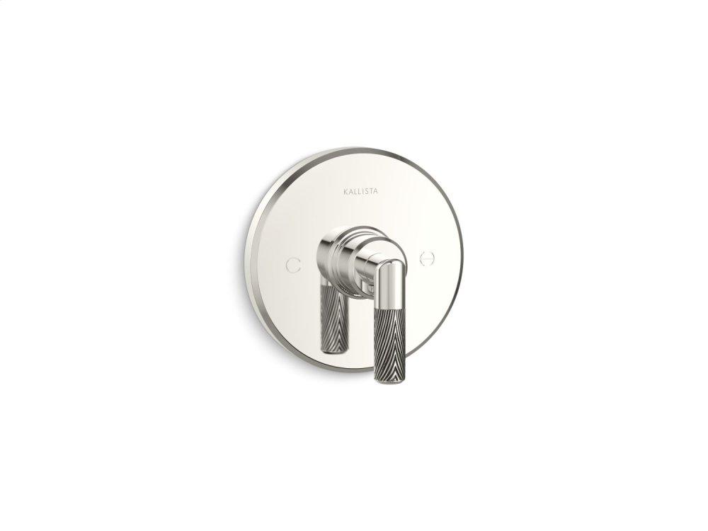 Thermostatic Trim, Lever Handle - Nickel Silver