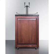 Freestanding Dual Tap Commercial Beer Dispenser, Auto Defrost W/digital Thermostat, Black Cabinet, and Panel-ready Door