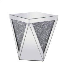 18.5 inch Crystal End Table Silver Royal Cut Crystal