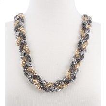 BTQ Braided Metallic Necklace