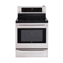 Smart ThinQ 6.3 cu. ft. Capacity Electric Single Oven Range with Infrared Grill