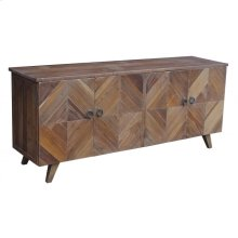 Reclaimed Pine 4-Door Contemporary Buffet