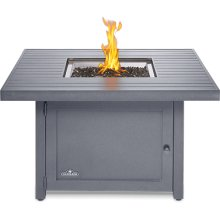 Hamptons Square Patioflame Table , Grey , Propane