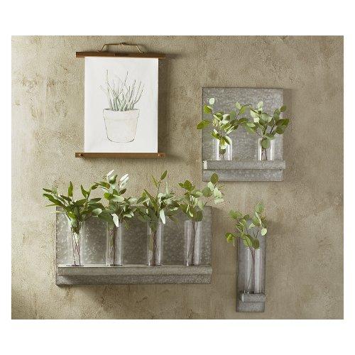 Metal Hanging Vase Sconce