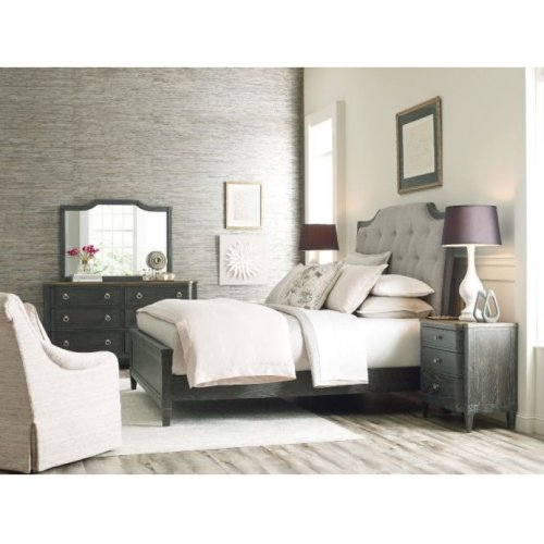 Lorraine Upholstered King Bed Complete
