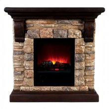 Large-size Vesti Faux Stone Fireplace