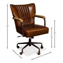 Parker Office Chair, Vintage Cigar Lthr