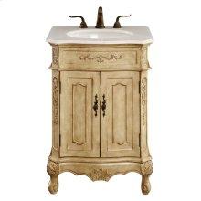 24 In. Single Bathroom Vanity Set In Antique Beige