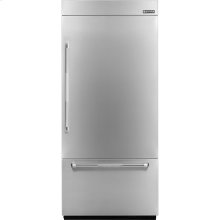 36-inch Stainless Steel Panel Kit for Fully Integrated Built-In Bottom-Freezer Refrigerator, Pro-Style® Stainless Handle