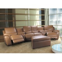 SOFA SEC W/MOTOR, F/BEIGE LEATHER MATCH