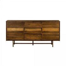 Superb Rustic Oak Buffet Cabinet Product Image