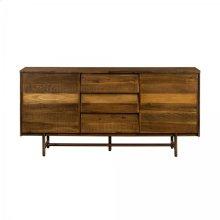 Superb Rustic Oak Buffet Cabinet