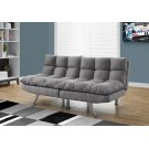 FUTON - SPLIT BACK CONVERTIBLE SOFA / GREY MICRO-SUEDE Product Image